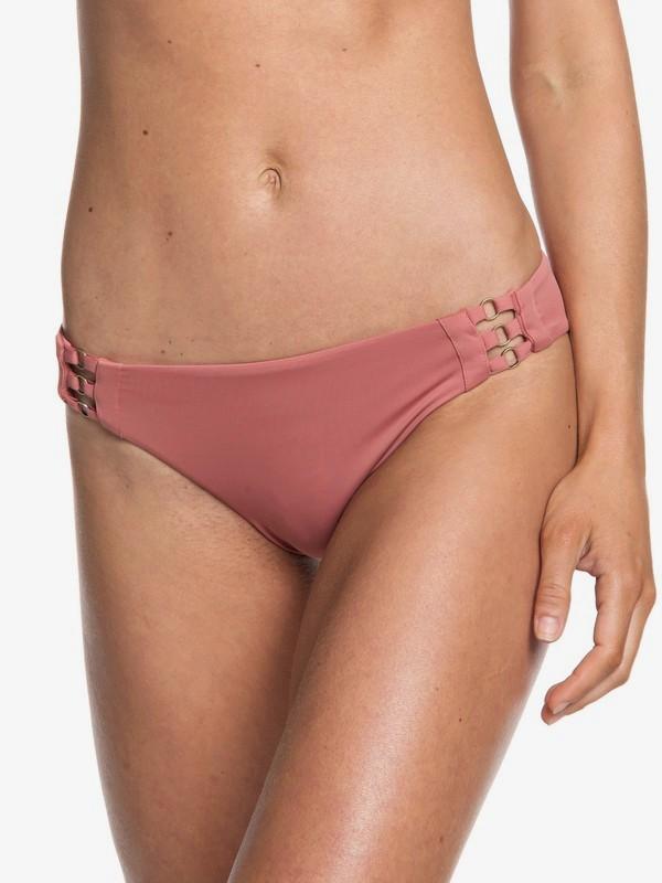 0 Calzones de Bikini de cobertura completa  Softly Love Rosa ERJX403607 Roxy