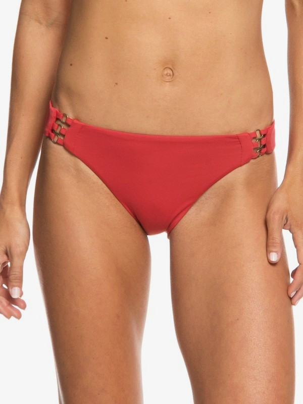 0 Softly Love Full Bikini Bottoms Red ERJX403607 Roxy