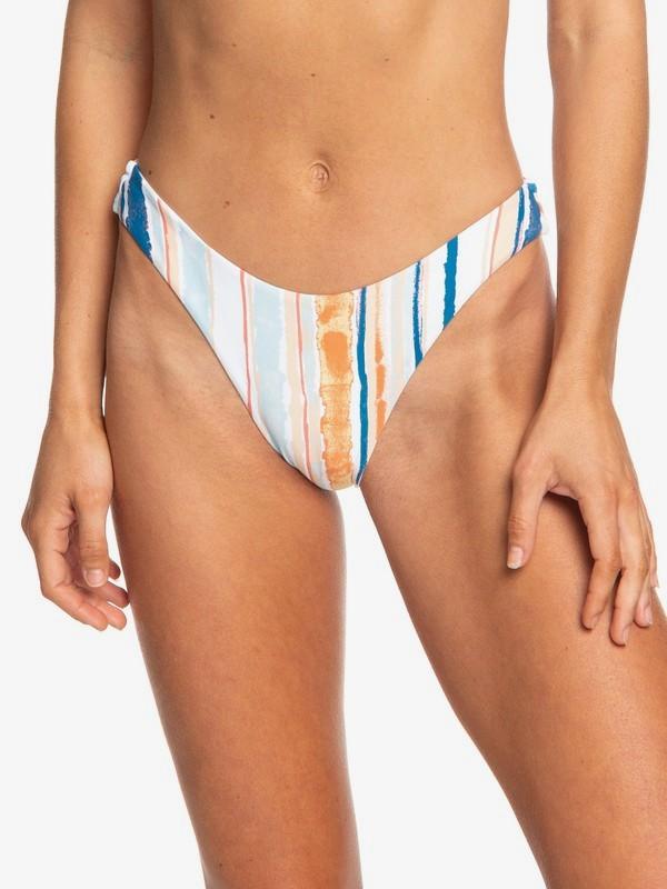 0 Beach Classics High Leg Bikini Bottoms Blanco ERJX403688 Roxy