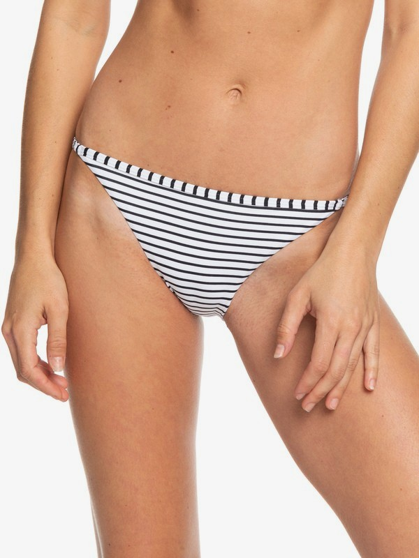 0 Printed Beach Classics Regular Bikini Bottoms Black ERJX403781 Roxy