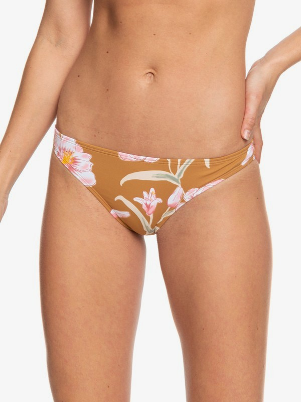 0 Printed Beach Classics - Moderate Bikini Bottoms for Women Marrón ERJX403782 Roxy