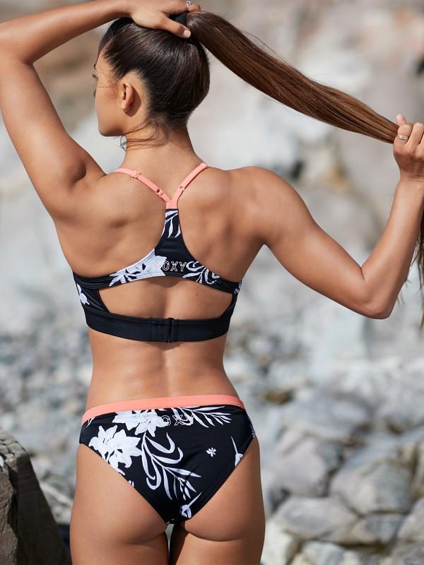 0 ROXY Fitness - Full Bikini Bottoms for Women Black ERJX403789 Roxy