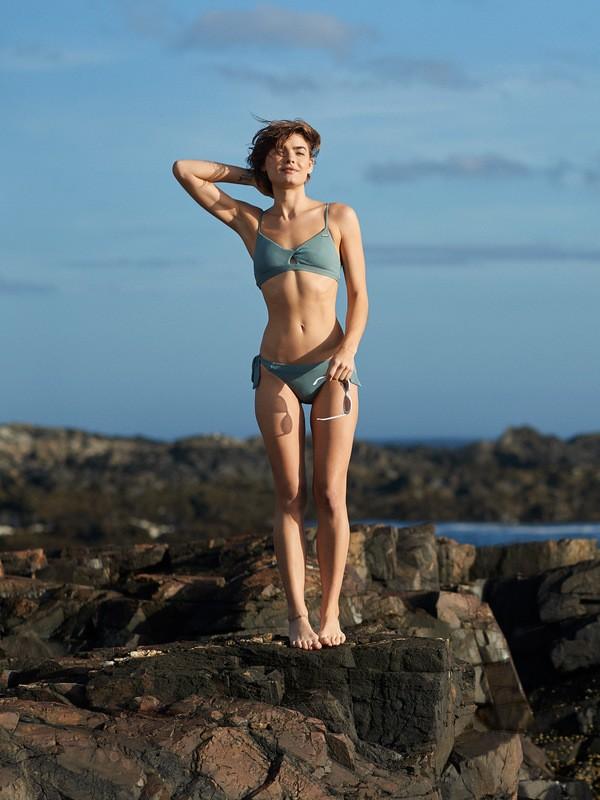 0 Seas The Day - Moderate Bikini Bottoms for Women Blue ERJX403794 Roxy