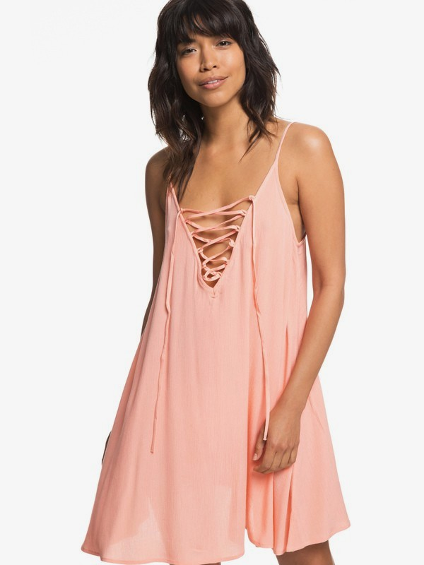 0 Softly Love Strappy Dress Pink ERJX603122 Roxy