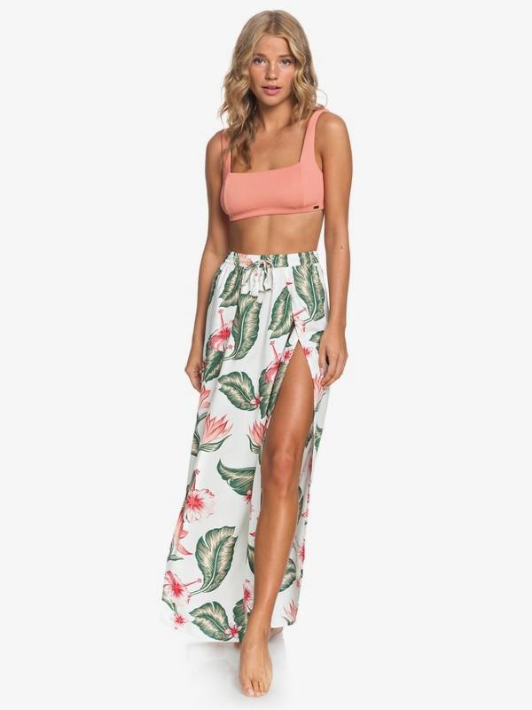 0 Desert Garden Maxi Skirt White ERJX603144 Roxy