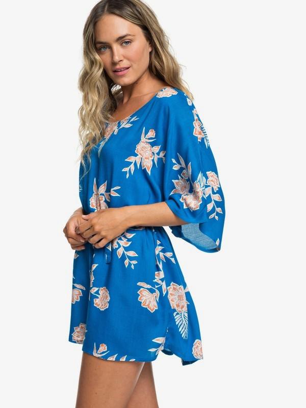 0 Loia Bay Short Sleeve Dress Blue ERJX603151 Roxy