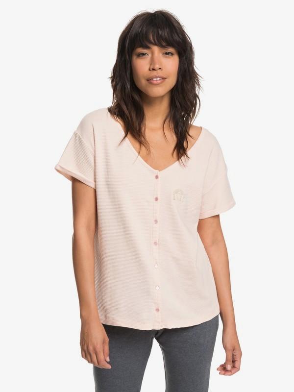 Never Give Up - Button-Up T-Shirt for Women ERJZT04341