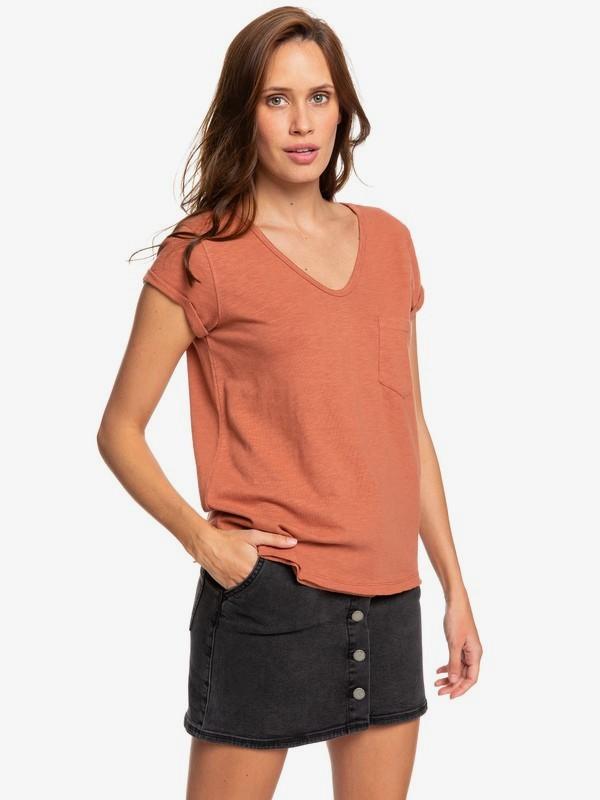 Perfect Kind Of Session - V-Neck Pocket T-Shirt for Women  ERJZT04639