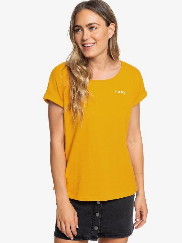 0 Blue Lagoon View D - T-Shirt for Women Yellow ERJZT04691 Roxy