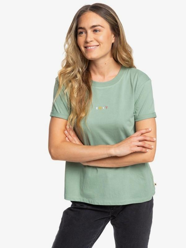 0 Surfing In Rhythm A - T-shirt pour Femme Vert ERJZT04692 Roxy