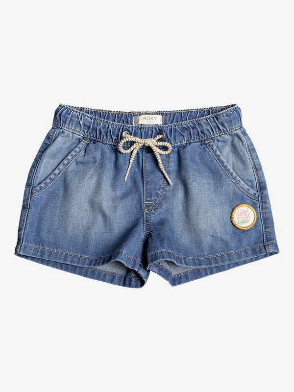 0 Girl's 2-6 Timeless Denim Shorts Blue ERLDS03034 Roxy