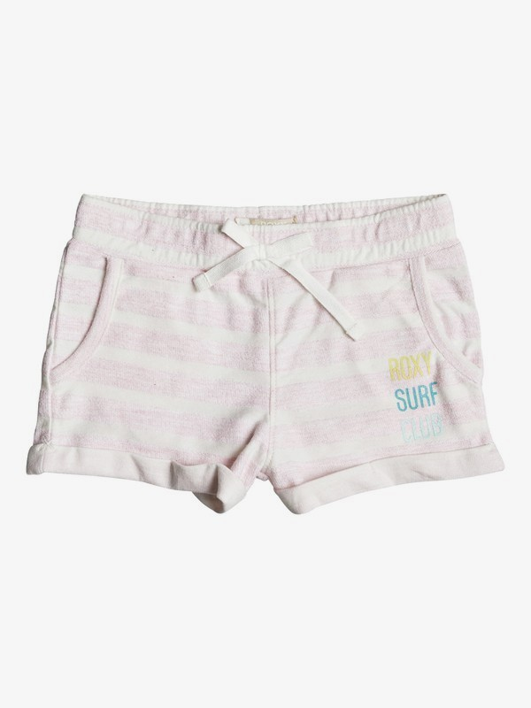 Laugh And Love Stripe - Sweat Shorts for Girls 2-7  ERLFB03044