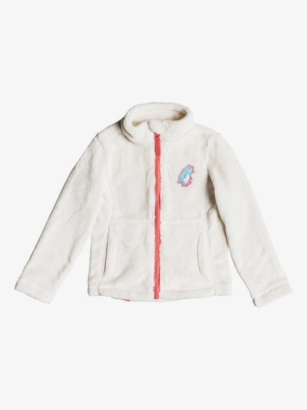 0 Girl's 2-6 Igloo Technical Zip-Up Fleece White ERLFT03140 Roxy