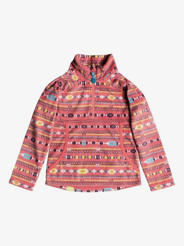 0 Girl's 2-6 Cascade Technical Half-Zip Fleece Pink ERLFT03142 Roxy