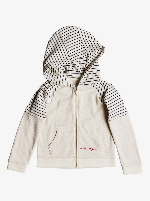 0 Girl's 2-6 Sky And Sand Zip-Up Hoodie Beige ERLFT03157 Roxy