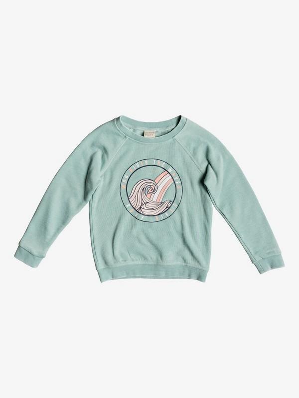 0 Girl's 2-6 Because Of You Sweatshirt Blue ERLFT03170 Roxy