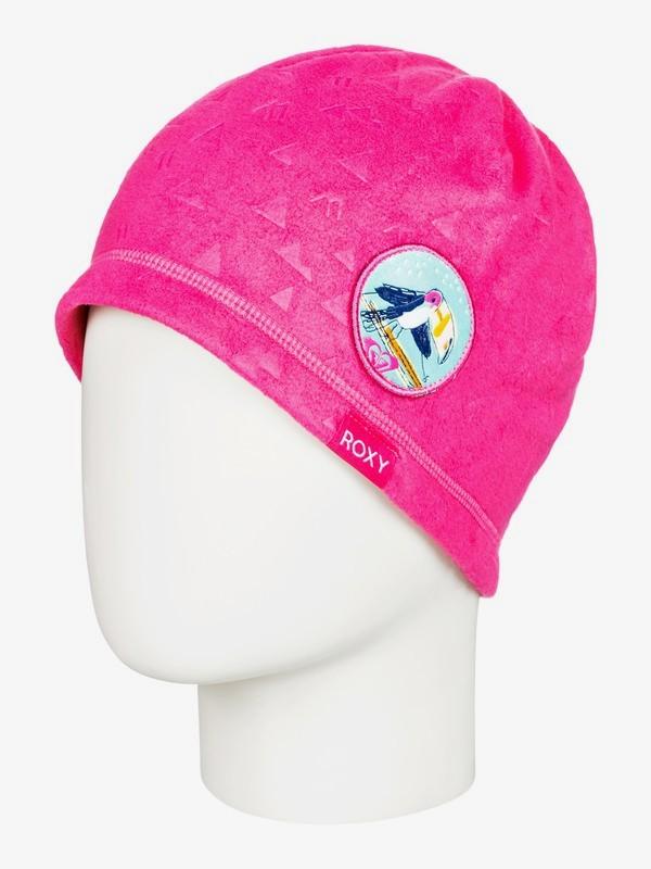0 Kaya Teenie - Gorro en Tejido Polar para Chicas 2-7 Rosa ERLHA03061 Roxy