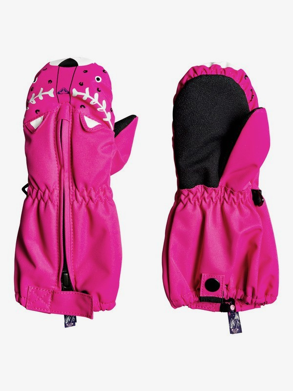 0 Snow's Up - Moufles de snowboard/ski pour Fille 2-7 ans Rose ERLHN03006 Roxy