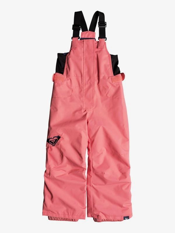 0 Girl's 2-6 Lola Snow Bib Pants Pink ERLTP03005 Roxy