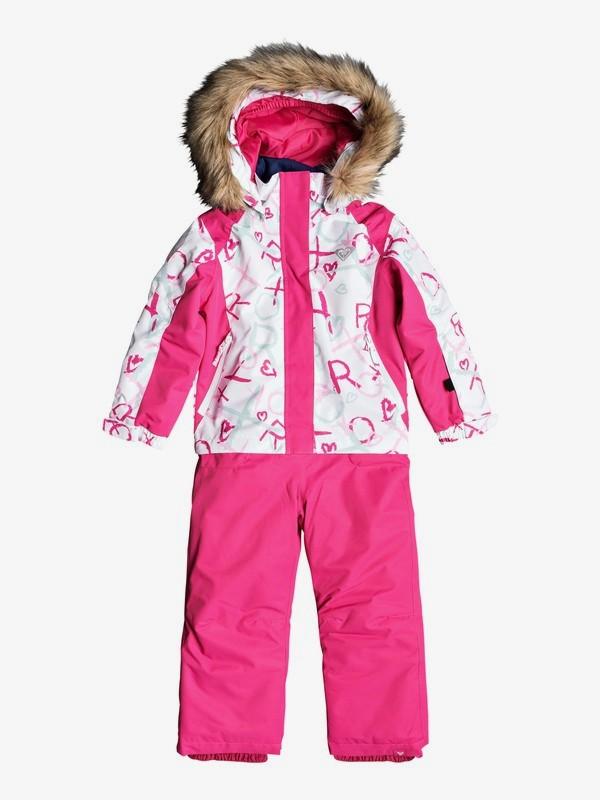 0 Paradise - Combinaison de ski pour Fille 2-7 ans Blanc ERLTS03005 Roxy