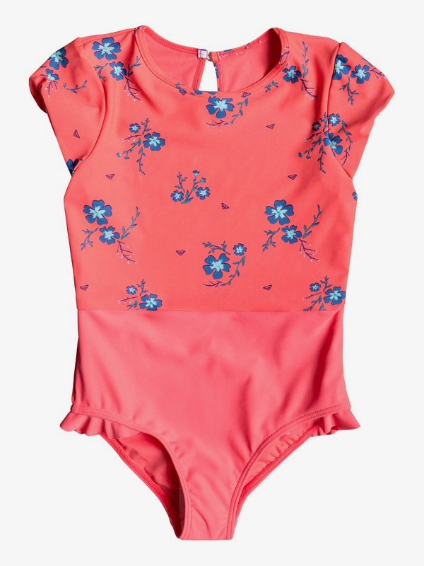 0 Girl's 2-6 Chill After Short Sleeve UPF 50 One-Piece Rashguard Red ERLWR03086 Roxy