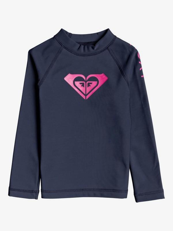 ROXY Heater - Long Sleeve UPF 50 Rash Vest for Girls 2-7  ERLWR03145