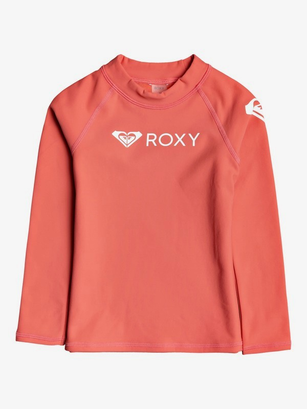 ROXY Heater - Long Sleeve UPF 50 Rash Vest for Girls 2-7  ERLWR03164