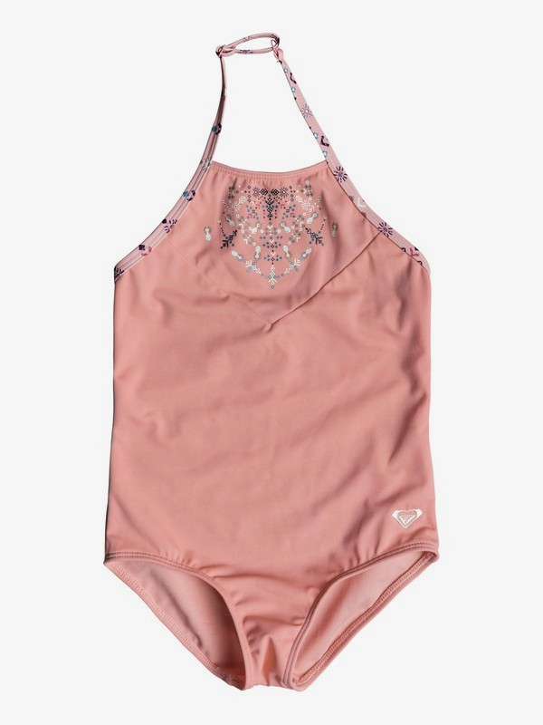 0 Girl's 2-6 Boho One-Piece Swimsuit Pink ERLX103025 Roxy
