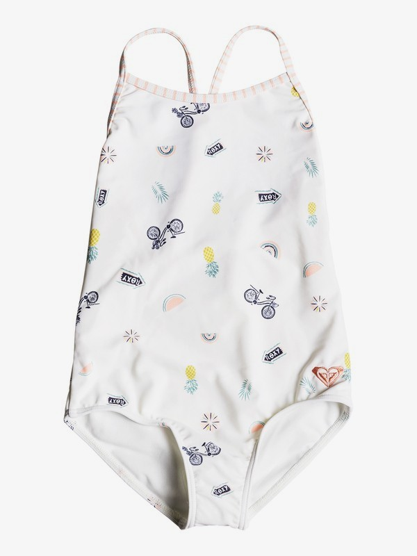 0 Girl's 2-6 Come On Board One-Piece Swimsuit White ERLX103030 Roxy