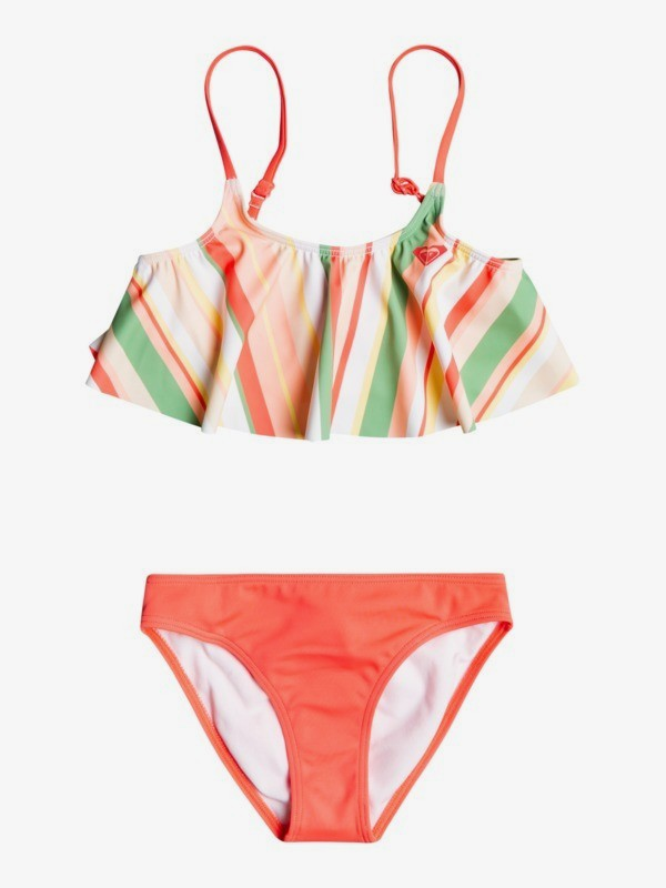 Stripey Sky - Recycled Flutter Bikini Set for Girls 2-7  ERLX203132