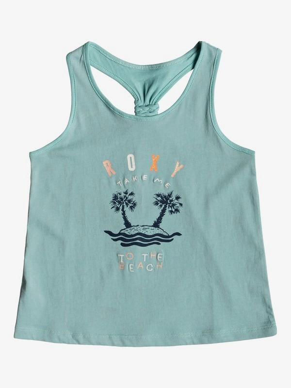 0 Girl's 2-6 Wish You Well B Tank Top Blue ERLZT03196 Roxy