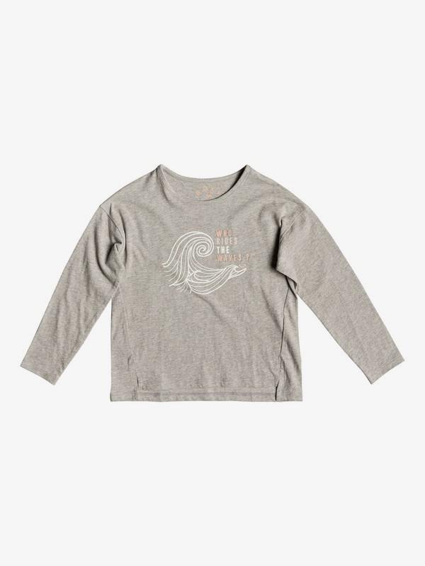 0 Girl's 2-6 Shape And Shadow B Long Sleeve Tee Grey ERLZT03204 Roxy