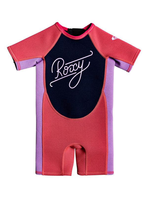 1.5mm Syncro - Back Zip Short Sleeve Springsuit for Toddlers (F)  EROW503002
